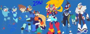 Happy 25th Anniversary, Megaman by tanlisette