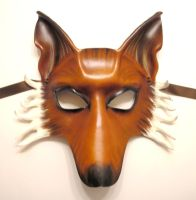 Leather Mask of a Fox (full face version) by teonova