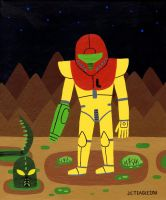 Samus Alone by Teagle