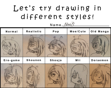 Lets Try Drawing In Different Style HunieB Edition by Chibifangirl01