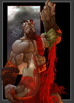 Ghost of Sparta colored by spade92