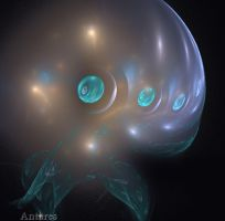 Deep sea 4-eyed jellyfish by Antares2