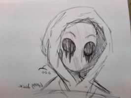 Eyeless Jack: Sketch by MarbleWasps