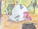 Bloaty Zecora and Pinki Pie by dragovian15