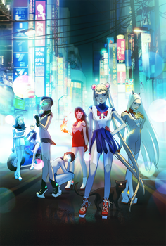 SAILOR MOON - MODERN GUARDIANS by WScottForbes