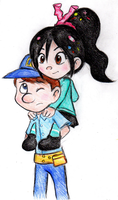 Felix and Vanellope by Laphyn