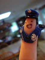 Shit the finger police r here by smilelykitty418