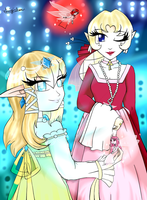 Queen Mizu of the Fairies and her Lady in Waiting by luigirules64