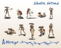 Sikata Actions by spiralstatic13