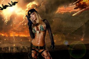 Jenny Poussin ready for combat by badasstatguy