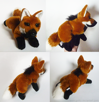 FOR SALE: Maned wolf - small floppy by goiku