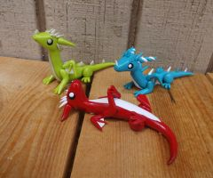 Little Baby Dragon Sculptures by ByToothAndClaw