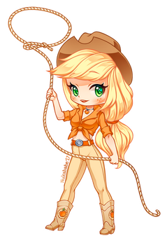 Applejack of MLP [Chibi] by Nukababe