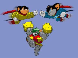 Mighty Mouse VS Atomic Mouse by RedSilverArtist