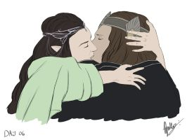Day 6 - Aragorn and Arwen by Kameia