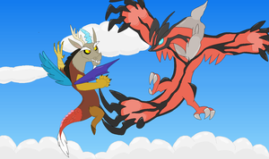 Yveltal vs. Discord by emiemi345