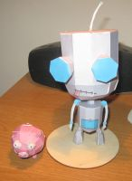 Gir and Pig - The Papercraft by technodrumguy