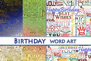Birthday word art by auRoraBor