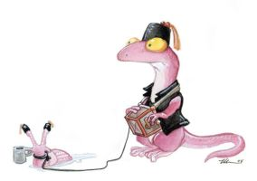The Organ-Grinder's Slug by ursulav