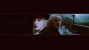 Narcissa and Lucius Malfoy by avadaxkedavra