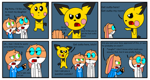 One Bad Giant Pichu by PrinceStickFigure