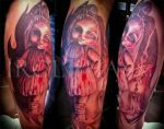 The Bloody Doll tattoo by Sharuzen