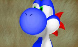 Blue Yoshi by Conker651