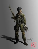 Female Soldier by kevinfrancisserrano