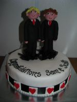 Sam n' Scott's Cake by FreddyGirl