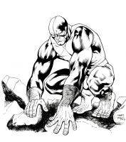 Inks - Beast by Manny Clark by adr-ben