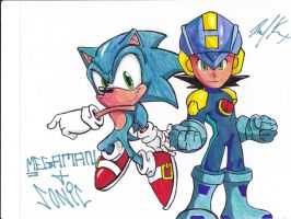 Sonic and Megaman by 1BetaOne