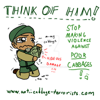 Anti-Cabbage-Terrorists Poster by NuttyNuti