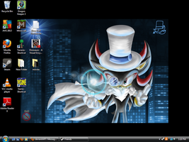 My Desktop + Background :3 by ScourgeXNazo2