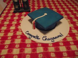 Graduation Hat Cake 1 by ayarel