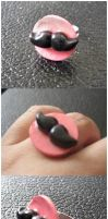 Mustache ring by CakeFruit