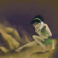 Action Toph by CranberryZee