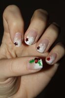 Christmas Nails by lawyersloveandbones