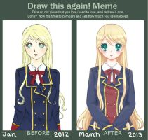 Draw this again : 1 year later by AmiMochi