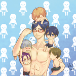 free! my fav charactor in swimming suit by alexghostsan