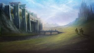 Landscape - Slowly approaching by madmagnus
