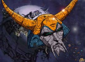 Unicron's Head by DaveTheOriginal