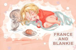 France and blankie by dieingcity
