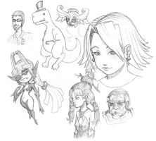Midna and Other Sketches by EmperorAtma