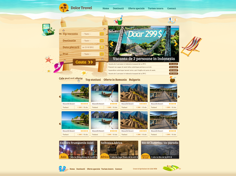 Travel website by NedelcuVld