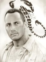 Dwayne 'The Rock' Johnson by MuzanMokugen