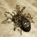 Steampunk spider sculpture 5 by CatherinetteRings