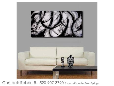 Black soho abstract art abstract paintings by robertrpaintings