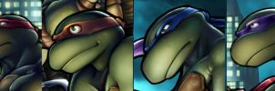 Turtles Headshots by AdamWithers