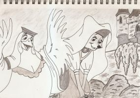Lady Kluck and Maid Marian by silverben