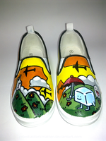 Sunset Scene Custom Shoes by CelestialDarkMatter